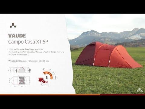 Instruction Manual VAUDE Campo Casa XT 5P | VAUDE