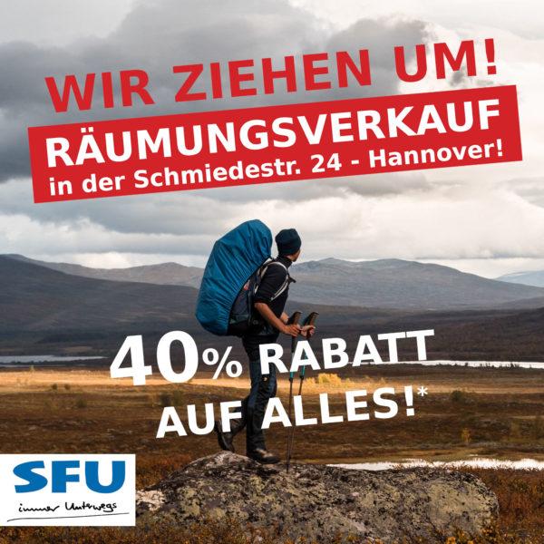 Räumungsverkauf in SFU Hannover 40%